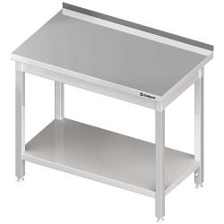 Stół przyścienny z półką 600x600x850 mm skręcany