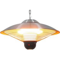Lampa grzewcza wisząca ze zdalnym sterowaniem i oświetleniem LED