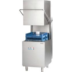 Zmywarka kapturowa 500x500, 10 kW z dozownikiem płynu myjącego i pompą wspomagającą płukanie i pompą zrzutową