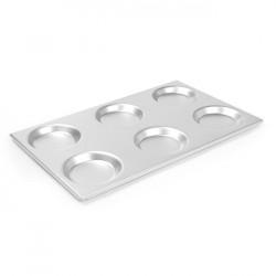 Taca aluminiowa GN 1/1 z formami  530x325