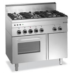 Kuchnia gazowa z piekarnikiem gazowym MBM600 6-palnikowa