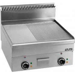 Płyta grillowa stołowa,1/2 gładka+ 1/2 ryftlowana chromowana - elektryczna MBM600