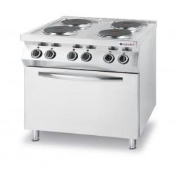 Kuchnia elektryczna - 4-płytowa Kitchen Line z konwekcyjnym piekarnikiem elektrycznym GN 1,1