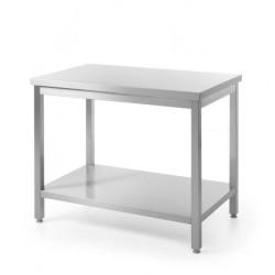 Stół roboczy centralny z półką - skręcany 1000 x 600