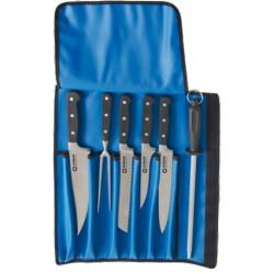 Zestaw noży, kutych z pokrowcem