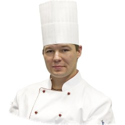 Czapka kucharska Premium h 200 mm