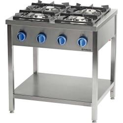 Kuchnia gazowa wolnostojąca 4 palnikowa z półką 24 kW - G30 (propan-butan)