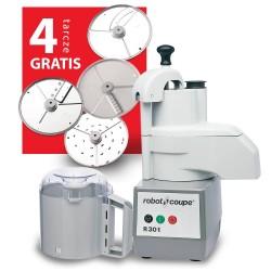 Szatkownica+cutter R301 230V 650WW + Zestaw 4 tarcz