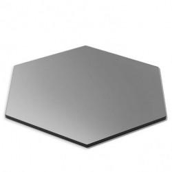 Płyta sześciokątna czarna ze szkła hartowanego 356mm