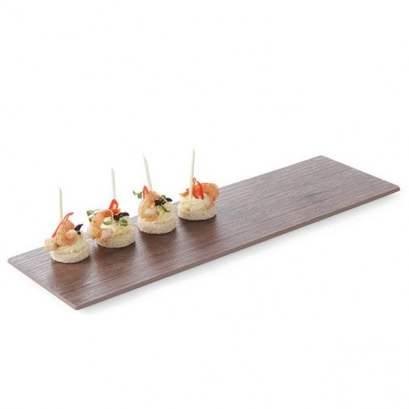 Deska z melaminy do serwowania imitacja drewna dębowego 530x325mm