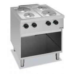 Kuchnia elektryczna na podstawie z trzech stron zakmniętej i z piekarnikiem elektrycznym C4EA77