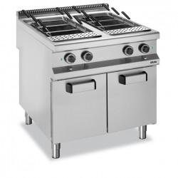 Urządzenie do gotowania makaronu i pierogów elektryczne, na szafce - 40l + 40l, linia 900