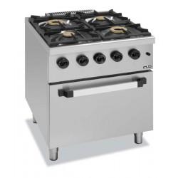 Kuchnia gazowa z piekarnikiem elektrycznym C4SFE77G