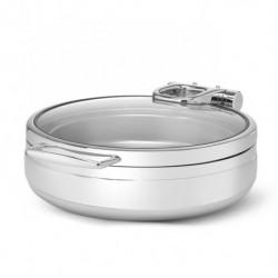 Podgrzewacz indukcyjny okrągły ze szklaną pokrywą 6L De Luxe