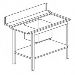 Stół załadowczy prosty, ze zlewem
