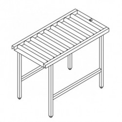 Stół wyładowczy, rolkowy, prosty