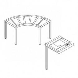 Stół rolkowy, narożny 90°