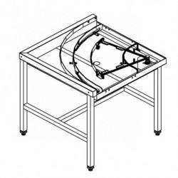 Stół narożny 90°, z mechanizmem przesuwu koszy