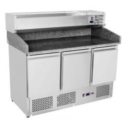 Stół do pizzy trzydrzwiowy z chłodzoną witrynką SP - 903