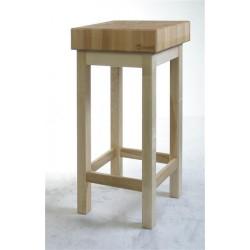 Kloc masarski drewniany na podstawie drewnianej 110