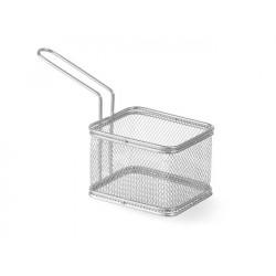 Koszyk do smażonych przekąsek prostokątny - głęboki 105x90x(H)65