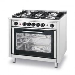 Kuchnia gazowa - 5-palnikowa Kitchen Line z konwekcyjnym piekarnikiem i z grillem