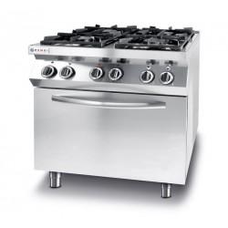 Kuchnia gazowa 4-palnikowa Kitchen Line z konwekcyjnym piekarnikiem elektrycznym GN1,1