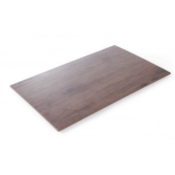 Płyta do serwowania z melaminy - imitacja drewna dębowego GN 1,1