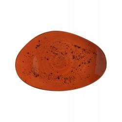 Talerz o organicznym kształcie Dahlia 350x210mm