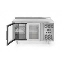 Stół chłodniczy 2-drzwiowy, przeszklony z agregatem bocznym