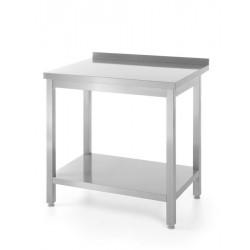 Stół roboczy przyścienny z półką - skręcany 1200 x 600