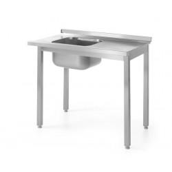 Stół załadowczy do zmywarek ze zlewem - skręcany