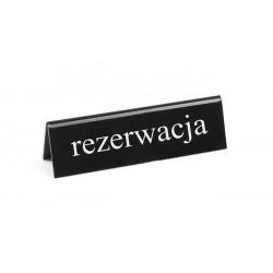 Tabliczka informacyjna 'Rezerwacja' PL