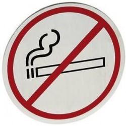 Tabliczka informacyjna samoprzylepna na drzwi - zakaz palenia