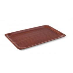 Taca antypoślizgowa drewniana - prostokątna 430x330