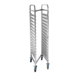 Wózek do transportu pojemników, kompaktowy - 15x GN 1,1